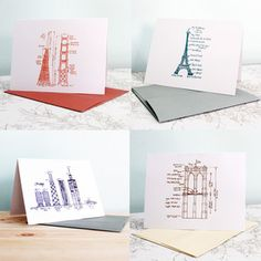 Great Cities Notecards Set Of 4 now featured on Fab.  Don't know why I like this, but I do!