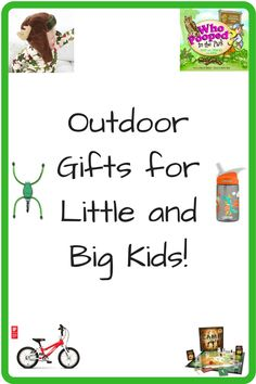 Outdoor Gifts for the Little and Big Kids in Your Life! Want to encourage adventure and outdoors living? Check out these 12 outdoor gifts for kids who love to explore. #NaturalParenting