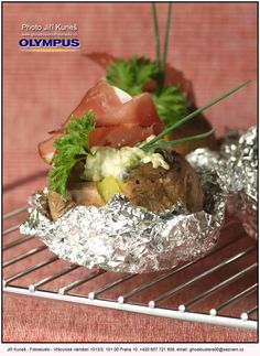Baked potato with chili peppers