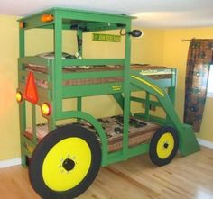 John Deere Tractor Bunk Bed Tutorial | The WHOot