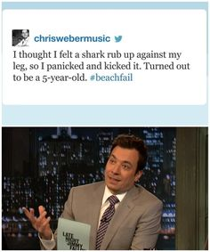 "This #BeachFail: | 21 Hilarious Tweets Jimmy Fallon Read On ""The Tonight Show"""