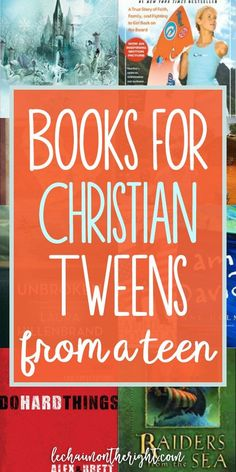 Inspiring Books for Christian Tweens from a Christian Teen Inspiring, quality, age appropriate books can be hard to find. Here are books for Christian tweens, designed to help them grow in faith and in character! Books For Tween Girls, Best Books For Tweens, Good Books, Books To Read, Ya Books, Library Books, Homeschool Books, Homeschooling Resources, Kids Reading