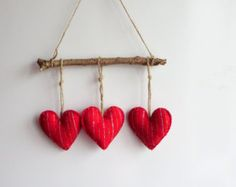 Glitter hearts felt ornament for toddlers valentines day Items similar to Buttony Hearts Felt Hanging Decorations on Etsy Felt Christmas Decorations, Valentines Day Decorations, Valentine Day Crafts, Holiday Crafts, Hanging Decorations, Decoration St Valentin, Diy And Crafts, Crafts For Kids, Felt Hearts