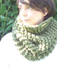 SCIARPA lana grossa / ORIONE / marshmallow maglia di AloneMavi