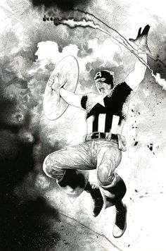 Portofolio nb of Captain america by Travis charest : print in samuel amiet's Prints Comic Art Gallery Room Comic Book Artists, Comic Artist, Comic Books Art, Marvel Comics, Bd Comics, Character Drawing, Comic Character, Character Design, Black And White Artwork