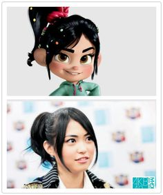 Ami Maeda from AKB48 and Vanellope from Wreck-It-Wraph are often compared in Japan. Can you find the similarities?