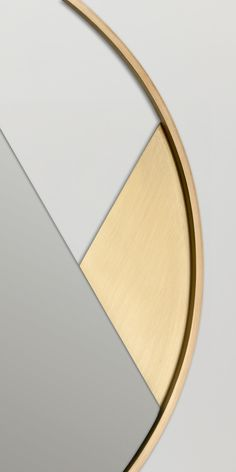 Revolution - Limited Edition. Three mirrors with a clean and rigorous design consisting of identical elements that are mounted at different angles to obtain various configurations. The result is a light balance between frames, mirrors and wall. Revolution collection available in brass or painted metal.  Design by 4P1B + Carolina Becatti