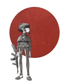 Here is a place where I will post all of the official Gorillaz art. I claim none of this art and it is all created by Jamie Hewlett. I will NOT be posting any fan art (including edits). Gorillaz Noodle, Cyborg Noodle, Gorillaz Art, Gorillaz Wiki, Damon Albarn, Gorillaz Plastic Beach, Jamie Hewlett Art, Folk Rock, Indie