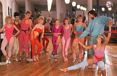 Workin' out '80s style.