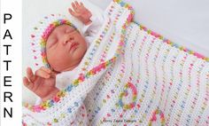CROCHET PATTERN ***Love u lots like Jelly tots*** baby blanket crochet pattern. With photo tutorial.  To make SAVINGS on my patterns see discounts below.  A very sweet baby blanket pattern. Rows of cute colorful dots and love hearts - A perfect little blanket for any little newborn, boy or girl.  I have combined two beautiful cotton yarns, a multicolored yarn and a white yarn, creating a really stunning and uniqiue effect! The blanket is reversible, so looks pretty whichever way round you…