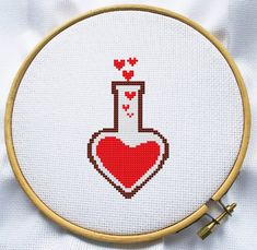 Counted cross stitch pattern, Instant Download, Free shipping, Cross-Stitch PDF, Love lab, Valentine's Day