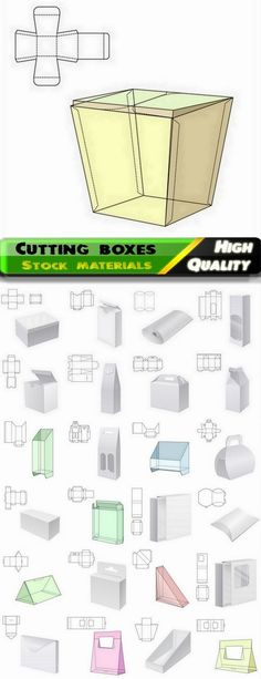 Template for cutting boxes in vector from stock #20 - 25 Eps