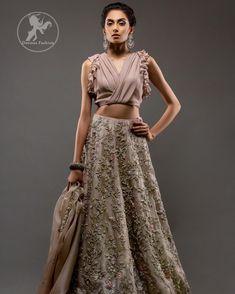 Rodeo Dust Stylish Blouse Lehengha Organza Dupatta - Buy Latest Pakistani Bridal Fashion Dresses for Bride 2020 Prices Pakistani Bridal Wear, Bridal Lehenga, Pakistani Dresses, Indian Dresses, Indian Outfits, Indian Designer Outfits, Designer Dresses, Designer Clothing, Lavender Wedding Dress