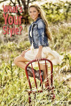 @Skyler Rountree - Heritage High School - Class of 2013 - #seniorportraits - Senior Model Rep - Summer - Style - Denim - Flirty Skirt - Cowboy Boots - Country - Flair - Elegance - McKinney - Tall Grass - Tyler R. Brown Photography