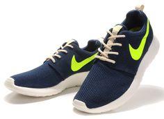 Nike Roshe Run Dames renschoenen Deep Blauw Groen