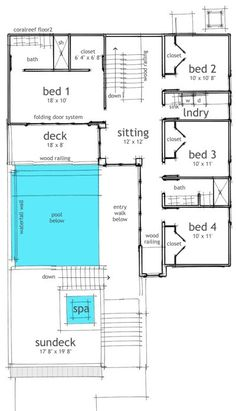 single floor house plans with indoor pool | House Plans | Pinterest ...