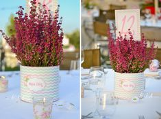 Shabby chic τριανταφυλλάκια, στα χρώματα του ροζ και της μέντας. Μαζί με τη μανούλα της μικρής, διαλέξαμε αυτόν τον πολύ όμορφο χρωμ...