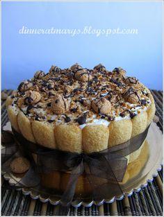 milk cream and amaretto cake