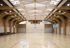 Centralized: Gymnasium at Regis Racine  By Atelier d'Architecture Alexandre Dreyssé; 2011; Drancy, France
