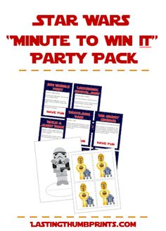 Star Wars Party Pack - Great for family nights, birthday Parties, and Star Wars Day!
