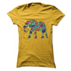 Floral Elephant A simple tee perfect for the summer!peace, elephant, colorful, rainbow, simple, sweet, womens, ladies, girly, lady, women, flower, popular, mandala, graphic, floral, summer