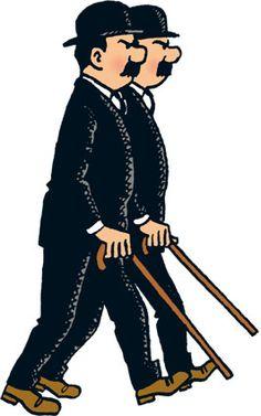Thomson and Thompson Dupont et Dupond Fox Terriers, Miyazaki, Tin Tin Cartoon, The Stars My Destination, Album Tintin, Asterix Y Obelix, Thompson Twins, Herge Tintin, Comic Art