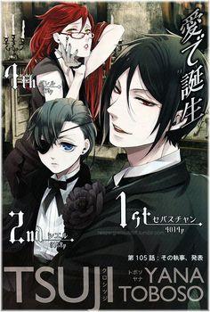 Kuroshitsuji / Black Butler - Sebastian Michaelis (1st), Ciel Phantomhive (2nd), Grell Sutcliff (4th)