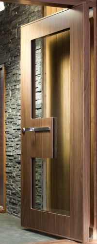 Modern Glass Front Entry Doors pivot | 1000+ ideas about Front Door Design on Pinterest | Wood ...
