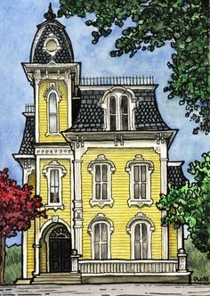 A previous penner said this house is in my hometown for My dream house drawing