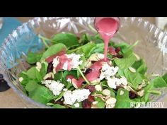 Sweet & Savory Cranberry Spinach Salad Recipe Read more at http://www.blogilates.com/blog/2013/02/10/sweet-savory-cranberry-spinach-salad-recipe/#Ioxb4ErYx3GRjWiT.99