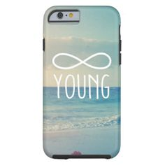Cool Vintage Sea Sky Photo Infinity Forever Young iPhone 6 Case