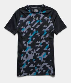 Boys' UA HeatGear® Armour Up Printed Short Sleeve Fitted Shirt | Under Armour US
