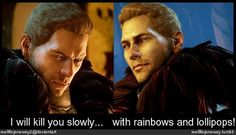 The two sides of Cullen... Or at least, I think so anyway. :D reellifejaneway on Tumblr