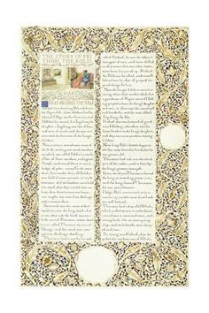 Calligraphic and Illuminated Manuscript, C.1871-1873 (Inks and Paint on Paper) Giclee Print by William Morris at Art.com
