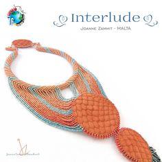 """Interlude"" Battle Of The Beadsmith 2016 entry by Joanne Zammit (Malta)  Battle Of The Beadsmith 2016 #BOTB #Beadsmith beadwork beadweaving bead embroidery natural sea urchin shell gemstones Miyuki beads Joanne Zammit"