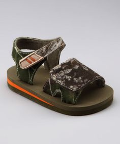 Take a look at this Camo Sandal by Tiny Feet: Infant Shoes on #zulily today!