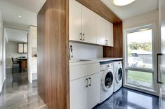 Modern Small Laundry Room Inspiration - The Urban Interior Laundry Room Pictures, Modern Laundry Rooms, Laundry Room Wall Decor, Laundry Room Design, Room Decor, Skandinavisch Modern, Modern Room, Home Interior, Modern Interior Design