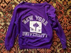 Vintage NYU Sweatshirt Collegiate ❤️