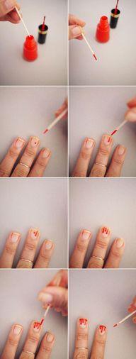 Decoración de sangre en nuestras uñas #decoraciondeunas #unas #disenodeunas #esmaltedeunas #uñas #nails #nail #nailart