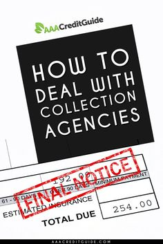 Everything you need to know about dealing with collection agencies. Collection agencies hate informed consumers. Know your legal rights under the FDCPA and you will never be bullied by them again.