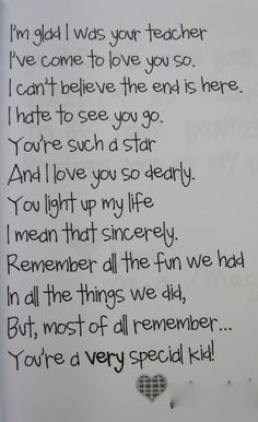 End of year poem....sooo sweet!  @Jammie Fewell