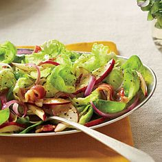 Whole Brussels sprout leaves make beautiful little salad greens. If pressed for time, slice the sprouts instead of peeling.