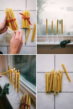 How to Make Beeswax Candles | Oh Happy Day