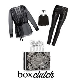 """""""Alexander McQueen box clutch"""" by im-karla-with-a-k on Polyvore featuring MANGO, Dolce&Gabbana, Alexander McQueen, women's clothing, women's fashion, women, female, woman, misses and juniors"""