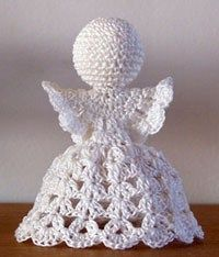 Best 12 crochet angel christmas ornaments diy–we have some like this that my great-grandmother made! I would love to add some – SkillOfKing. Crochet Christmas Decorations, Crochet Ornaments, Christmas Crochet Patterns, Holiday Crochet, Crochet Snowflakes, Christmas Crafts, Crochet Angel Pattern, Crochet Angels, Crochet Cross