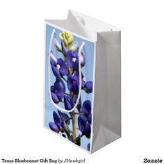 Texas Bluebonnet Gift Bag by Amy Steeples.  Available on Zazzle.