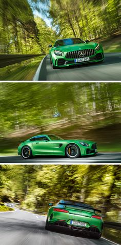 From the world's most demanding racetrack directly onto the road: Never before has Mercedes-AMG packed so much motorsport technology into a production vehicle than into the new AMG GT R. #‪BeastoftheGreenHell [Combined fuel consumption: 11.4 l/100 km | Combined CO2 emissions: 259 g/km | http://benz.me/EfficiencyStatement]