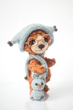 OOAK Artist Teddy Bear Coldy Collectible by SoftlyBearPaw on Etsy, $180.00