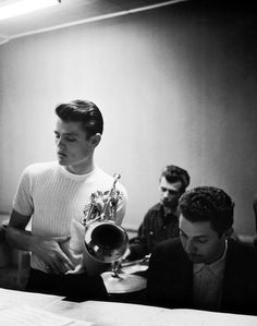 Chet Baker with Bob Neel and Russ Freeman by William Claxton