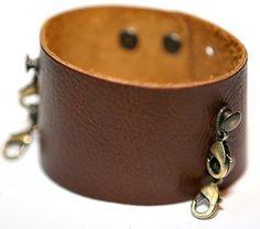 Wide Cuff in Dark Chestnut...lenny and eva